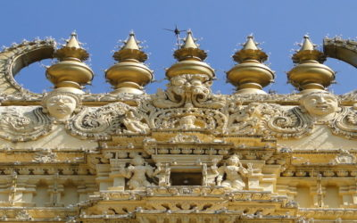 Gopur of a temple inside Mysore Palace